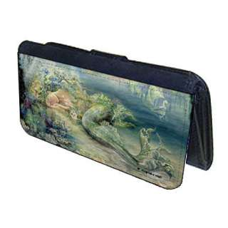 Atlantis Mermaid Josephine Wall Fantasy Art Compact Leatherette Wallet