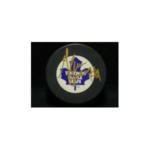 Signed Anderson, Glenn Toronto Maple Leaves Hockey Puck