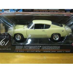 1968 Plymouth Barracuda in Yellow Diecast 118 Scale