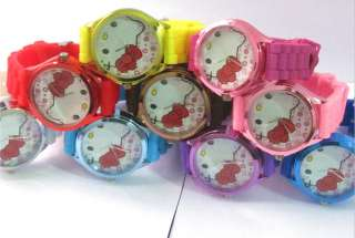 10pcs New fashion Jelly HelloKitty Girls Ladies odm Wrist Watch