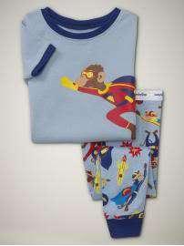 Baby Gap Boys Superhero Monkey Pajamas 6 12 NWT NEW NIP