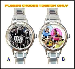 New Big Time Rush BTR Boy Band Italian Charm Watch x1