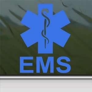 EMS Emergency Medical Services Blue Decal Window Blue Sticker
