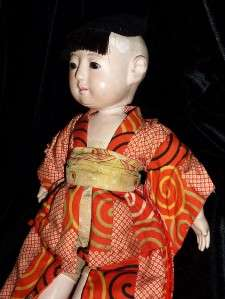 Antique Japanese Ichimatsu Boy Doll Gofun!