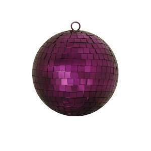 Majestic Purple Mirrored Glass Disco Ball Christmas Ornament 6 (150mm
