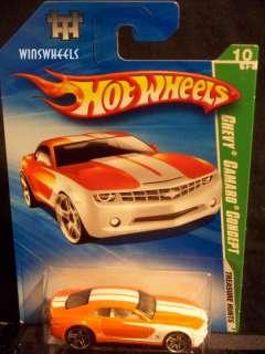 hot wheels 2010 TREASURE HUNT #54 CHEVY CAMARO REG #1