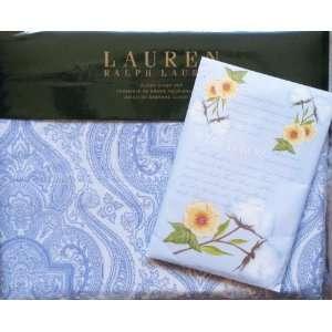 Bundle    Lauren Ralph Lauren Queen Sheet Set India Ink Blue Paisley