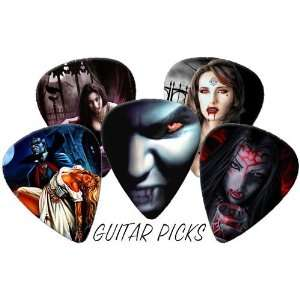Vampires Gothic Full Colour Premium Guitar Picks x 5