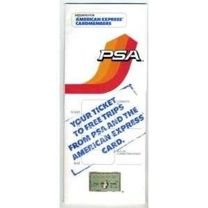 PSA American Express Ticket Folder 1986 AD: Everything