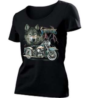 00267 Biker / Chopper / Motorrad Motiv Women T Shirt