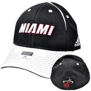 NBA Adidas Miami Heat Stretch Flex Fit One Size Hat Cap
