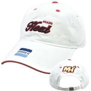 NBA Elevation Miami Heat White Black Red Womens Ladies Hat