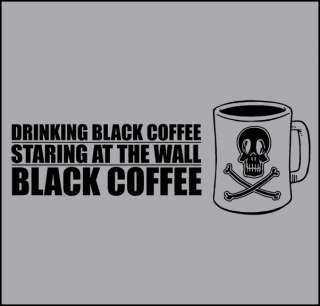 BLACK FLAG PUNK ROCK ROLLINS COFFEE SKULL T SHIRT S XXL