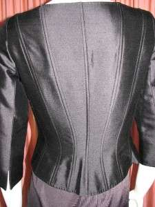 RICKIE FREEMAN FOR TERI JON SILK WOOL CORSET JACKET 4