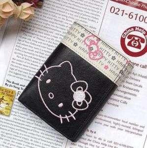 Neu Hello Kitty Geldbörse wallet Brieftasche schwarz