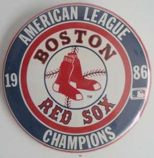 Boston Red Sox American League Champions 1986 Pin Back