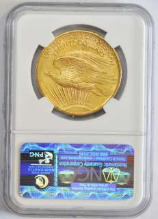 1924 St Gaudens $20 Gold Double Eagle NGC UNC DETAILS Uncirculated Old