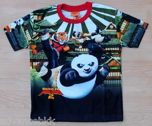 KUNG FU PANDA Kids Girl Boys T Shirt Sz XL Age 8 10 #02