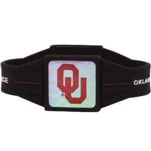 NCAA Oklahoma Sooners Black Power Force Silicone Wristband