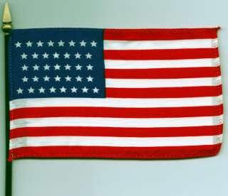 37 Star US Flag   (1867 1877) 4x6 Flag on Pole NEW