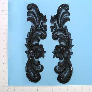 Single Flower Swag Lace Applique Pack of 2: Home & Kitchen