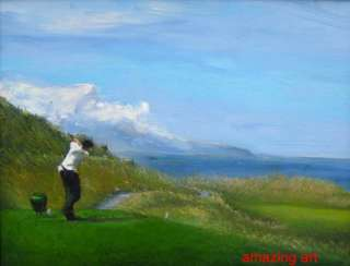 Impressionist Oil Painting on canvas Playing Golf
