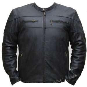 HIGH QUALITY MENS MOTORCYCLE LEATHER ARMOR JACKET XXL Automotive