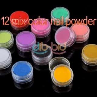 Color Jumbo Beautiful Nail Art Acrylic Powder Builder Set #2