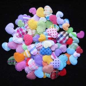 150 pcs Mixed Padded Heart Appliques Baby/Clips/Kid M11