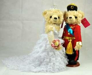 WEDDING GIFT PAIR LOVER MARRY TEDDY BEAR DOLL TOY 14 C