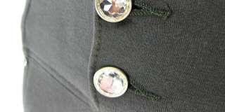 Crystal Buttons High waist Moleton Jeans Brazilian Style Skinny