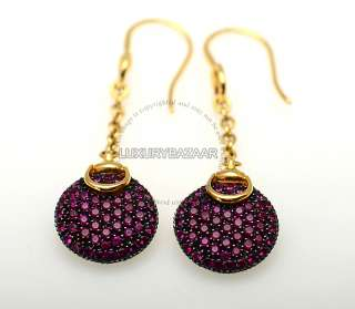 Gold & Pink Sapphire Horsebit Earrings   see Matching Necklace