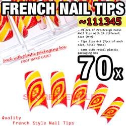 my store product name 70 pcs pre designed french false nail tips