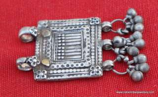 ANTIQUE TRIBAL OLD SILVER AMULET PENDANT SEVAN SISTER