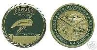 ARMY RANGERS LEAD WAY BENNING MERRIL CHALLENGE COIN