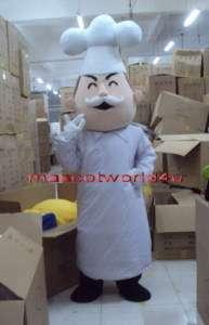 New Professional Baker Mascot Costume Fancy Dress Cartoon Suit Adult