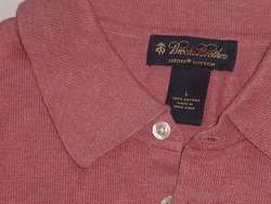 BROOKS BROTHERS SUPIMA COTTON POLO GOLF SWEATER SHIRT L