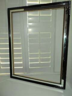 VINTAGE Art Deco Large MIRRORED Picture FRAME 26 x 34