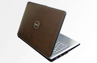Dell Inspiron 1525 Laptop Cover Skin   Brown Leather