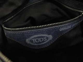 Tods Navy Blue Leather Small Pocket Shoulder Bag