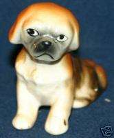 Vintage Porcelain Japanese Chin Dog Figurine Pekingese |