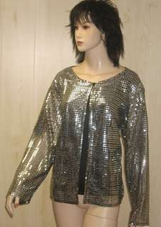 GOLD Party Top SHELL JACKET SHIRT 2fer 22 PLUS SIZE 3x