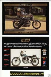 1976 HARLEY DAVIDSON XLH SPORTSTER MOTORCYCLE BIKE CARD