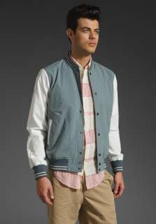 SHADES OF GREY BY MICAH COHEN Baseball Jacket in Grey/White at Revolve