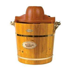 Nostalgia Electrics 4 Quart Wooden Bucket Electric Ice Cream Maker