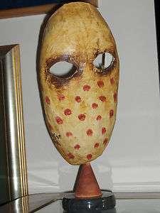 MANUEL MENDIVE ORIGINAL MASQUE MACHE PAPER mascara arte cuba