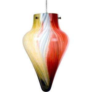 Checkolite Art Glass 1 Light Hanging Rainbow Teardrop Pendant 25320 71