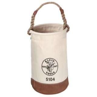 Klein Tools 12 in. Leather Bottom Bucket 5104