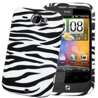 London Magic Store   Black Zebra Gel Case Cover For HTC Wildfire G8