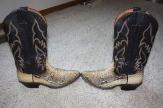 Nocona Snake Python Western Cowboy Boots Size 8 Mens
